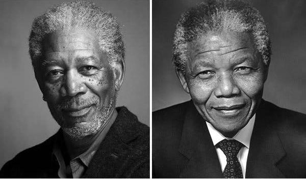 Morgan Freeman sebagai Nelson Mandela di Invictus (2009).