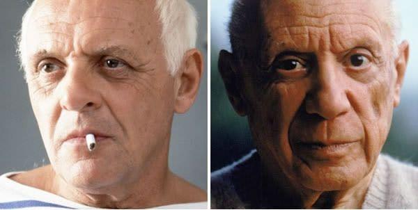 Anthony Hopkins sebagai Pablo Picasso di Surviving Picasso (1996).