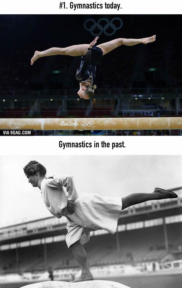 Gymnastic (senam) Sepertinya gymnastic sekarang jadi jauh lebih susah dan rumit daripada dulu ya Pulsker.