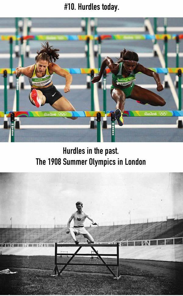 Lari Gawang Untuk olimpiade sekarang jarak antara palangnya lumayan dekat ya, ga kaya olimpiade dulu yang jaraknya agak jauh.