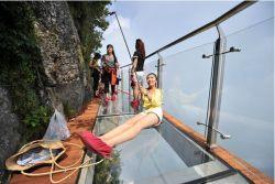 Jembatan dari Kaca Dibangun Di Tiongkok, Pulsker Berani Lewat Ga?