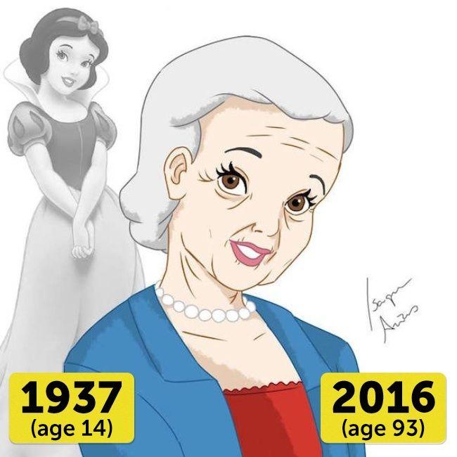 Snow White Putri tertua diantara putri Disney yang lain adalah Snow White. Di usianya yang tak lagi muda yaitu 93 tahun, pesona dan kecantikannya masih terjaga.