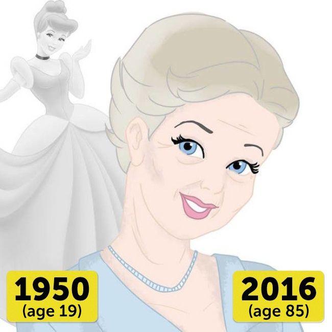 Cinderella Wow..Cinderella rambutnya udah nggak disanggul lagi lho. Tapi dia tetap terlihat glamour walaupun sudah berusia 85 tahun.