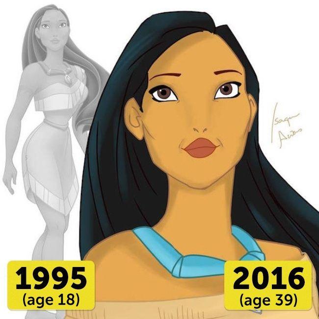 Pocahontas Di usianya yang sudah 39 tahun, Pocahontas masih terlihat eksotis, sexy dan menawan.