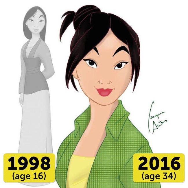 Mulan Mulan adalah Putri Disney yang paling muda diantara yang lain, yaitu 34 tahun. Masih terlihat remaja dan cantik ya Pulsker!