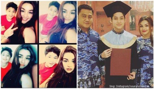 Teuku Rassya dengan Nurah Shevirah Setelah bercerai dengan Tamara Belzynski, Teuku Rafli menikah dengan gadis muda bedarah Makassar bernama Nurah Shevirah. Terpaut usia 18 tahun membuat Teuku Rasya sangat nyaman berbincang dan menjadikan ibu tirinya itu menjadi sahabat. Jadi seperti kakak adik ya mereka.