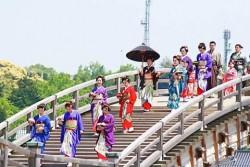 10 Foto Tentang Keindahan Jembatan Kintai-Kyo Di Jepang