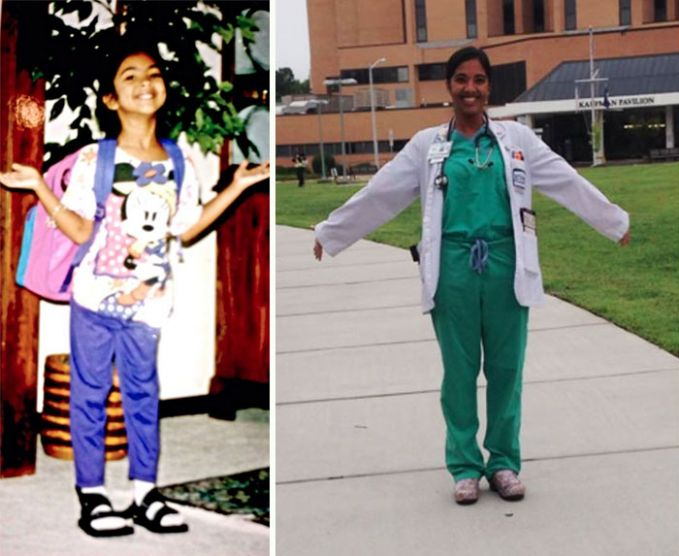 Hari Pertama Sekolah dan Hari Terakhir Sekolah Kedokteran Ternyata kedua foto ini terpaut 20 tahun loh Pulsker, tapi di dua foto ini terlihat sama-sama semangatnya ya.
