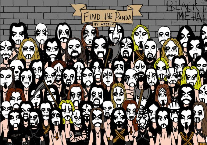 Hayo coba temuin panda di antara rocker metal ini.