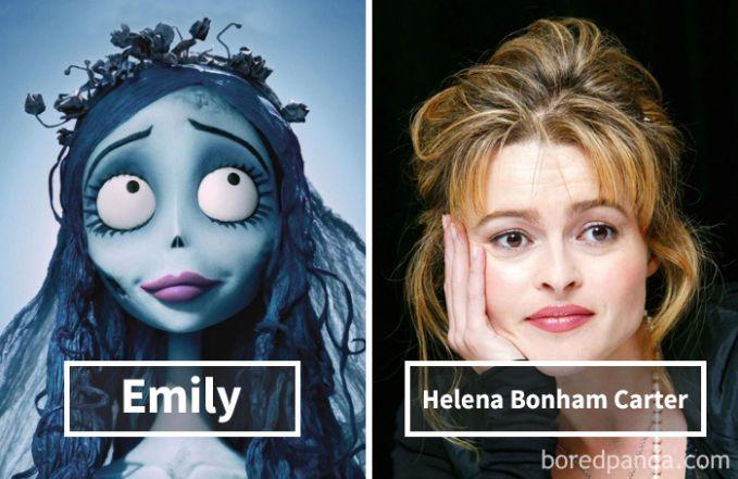 Emily dari film Corpse Bride (Tim Burton) ternyata dubbernya adalah Helena Bonham Carter.