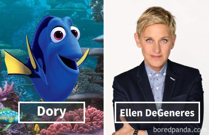 Dory dari film Finding Nemo dan Finding Dory ternyata dubbernya adalah Ellen DeGeneres, sang pembawa acara talkshow The Ellen Show.