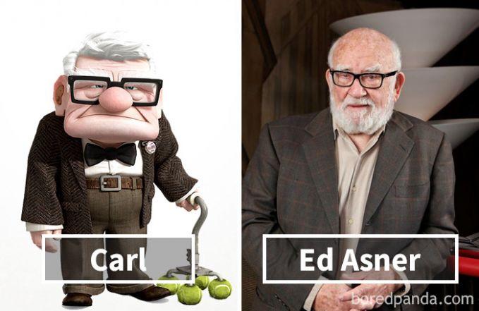 Carl dari film Up ternyata dubbernya adalah Ed Asner, mirip ya Pulsker, hehehe.