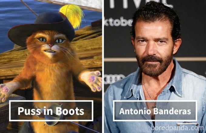Puss in Boots (Kucing bersepatu bot) dari film Shrek ternyata dubbernya adalah Antonio Banderas, sang Zorro.