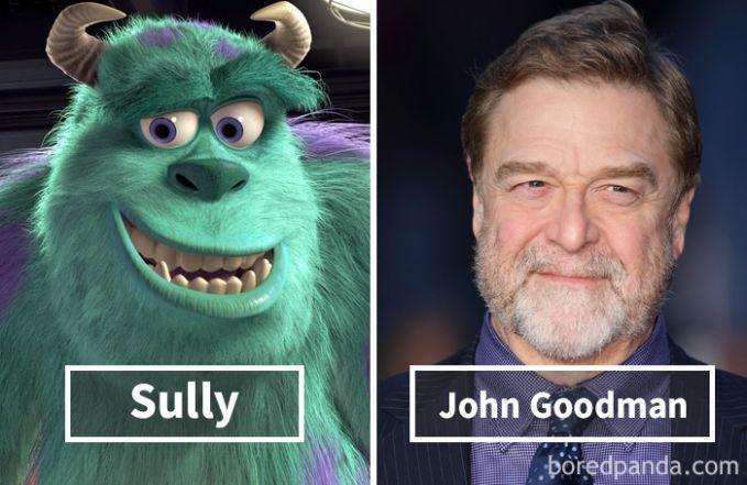Sully dari film Monster Inc ternyata dubbernya adalah John Goodman.
