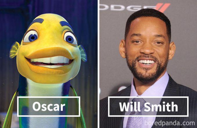Oscar dari film Shark Tale ternyata dubbernya adalah Will Smith.