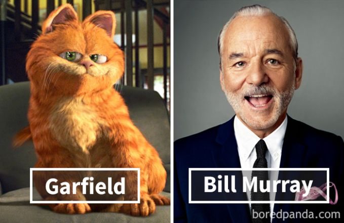Garfield dari film Garfield: The Movie ternyata dubbernya adalah Bill Murray.