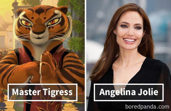 Master Tigress dari film Kung Fu Panda ternyata dubbernya adalah mantan istri Brad Pitt, Angelina Jolie.