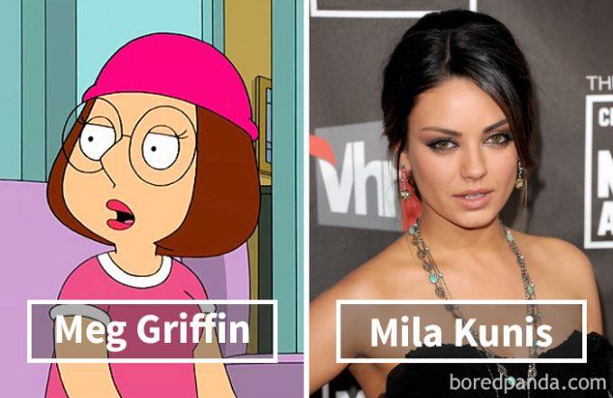 Meg Griffin dari series Family Guy ternyata dubbernya adalah si seksi Mila Kunis. Nah itu dia sosok dibalik suara karakter kartun yang kita suka ini. Yuk share ke keluarga dan temen kamu biar mereka pada tauu.