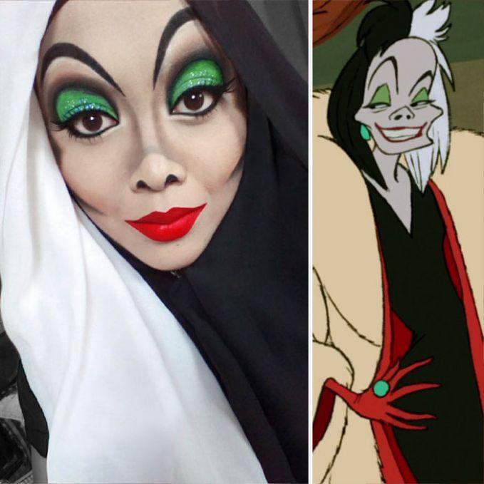 Cruella de Vil dari 101 Dalmatians.