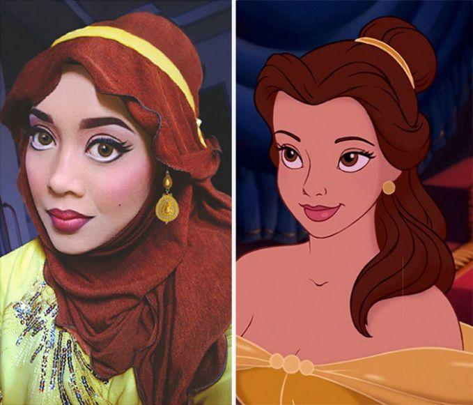 Putri Belle dari Beauty and the Beast.