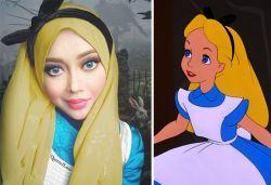 Keren! Dengan Hijabnya, Wanita Ini Berubah Menjadi 11 Tokoh Kartun!