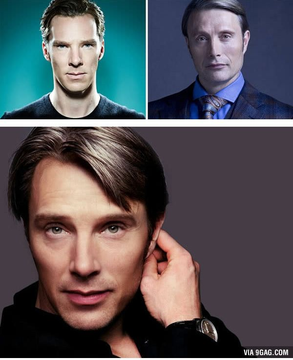 Benedict Cumberbatch dan Mads Mikkelsen