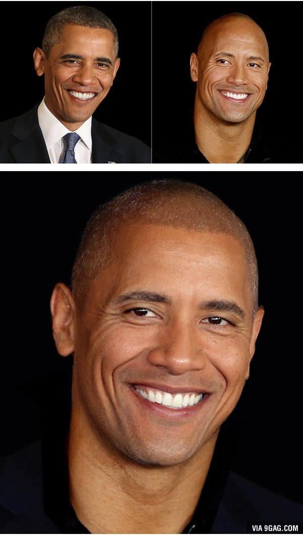 The President and The Rock (Barack Obama dan Dwayne Johnson) Hasilnya jadi makin cakep gitu ya Pulsker, ada idola kamu ga nih? Yuk share ke saudara dan temen kamu yang ngidolain salah satu artis di atas.