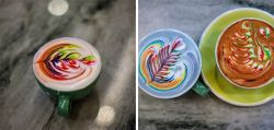 Rainbow Latte Art Ini Keren Banget!