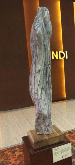Petrified wood sculptures