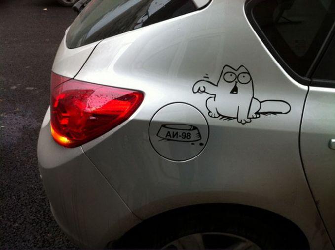 Salah satu hiasan yang simpel, yaitu menggunakan stiker.