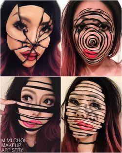 7 Make Up Ilusi di Wajah Ini Pas Banget Buat Halloween