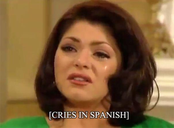 Subtitle ini, yang berarti Menangis dalam bahasa Spanyol. Hmm mungkin menangis di bahasa Spanyol berbeda dengan cara kita menangis.