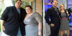 10 Foto Sebelum dan Sesudah Pasangan yang Bersama-sama Menurunkan Berat Badan