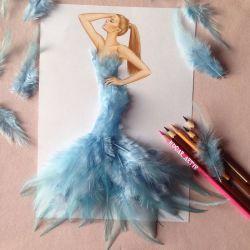 10 Desain Gaun Indah Dari Gambar Ini Terbuat Dari Benda Sehari-Hari