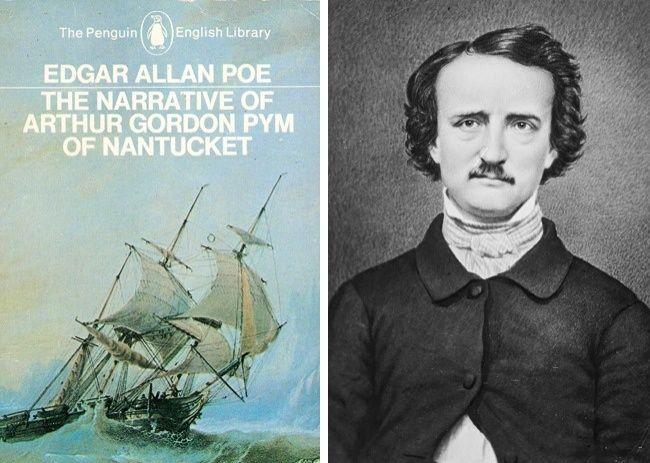 Rumor mesin waktu Edgar Allan Poe Dalam buku The Narrative of Arthur Gordon Pym of Nantucket, ditulis oleh Edgar Allan Poe, yang berceritakan tentang empat pelaut yang selamat dari tenggelamnya kapal mereka dan dipaksa memakan shipboy yang bernama Richard Parker. Po mengklaim bahwa cerita ini didasarkan pada peristiwa nyata, tapi tidak ada yang percaya padanya. 46 tahun setelah buku itu ditulis, perahu yang sebenarnya mangalami kecelakaan, dan anggota kru yang selamat menceritakan bagaimana mereka telah makan shipboy disebut yang juga bernama Richard Parker. Hal ini menyebabkan rumor bahwa penulis terkenal Amerika telah dimiliki mesin waktu. Ngeri juga ya ceritanya..hii