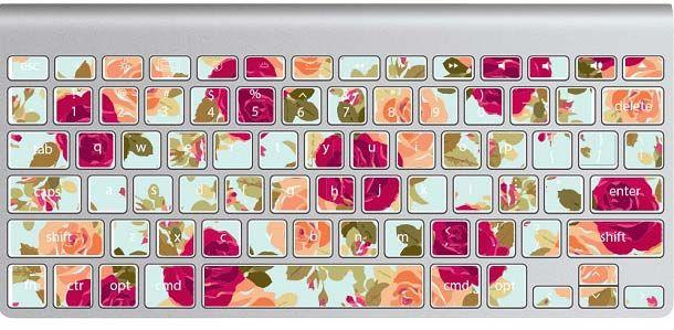 Buat kalian para cewek yang suka sama tema bunga-bungaan, ini cocok dipasang di keyboard laptop kalian. Warnanya yang cerah dapat membangkitkan mood baik kalian saat mengetik lho pulsker.