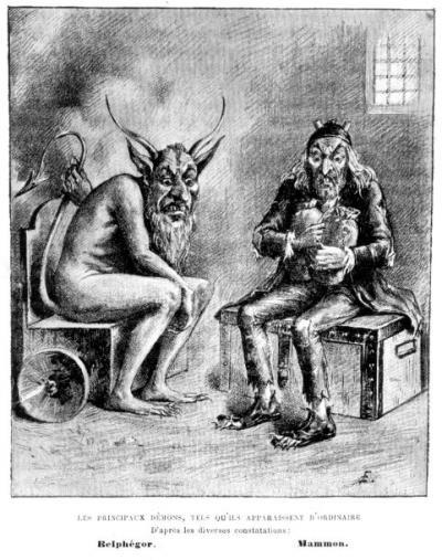 Belphegor Belphegor disebut sebagai salah satu dari 7 Pangeran Neraka yang mewakili sifat kemalasan (sloth). 7 Pangeran Neraka sendiri merupakan sebutan bagi para iblis yang mewakili 7 Dosa Mematikan (7 Deadly Sins). Sosok ini digambarkan dengan wujud iblis yang berjenggot, memiliki tanduk dan berkuku panjang. Belphegor juga memiliki sifat yang akan memberikan kekayaan dengan cara apapun kepada manusia yang memujanya. Setelah memiliki kekayaan, manusia akan melas untuk bekerja. Hal itulah yang diharapkan Belphegor yang berujung perpecahan antar manusia.