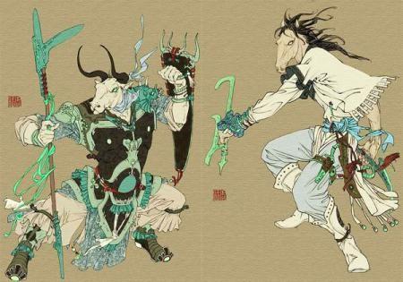 Ma Mian Dalam mitologi Cina, Ma Mian adalah salah satu dari dua penjaga akhirat. Ma memiliki arti kuda. Mian memiliki arti wajah, sisi, permukaan, aspek, atas, klasifikasi permukaan datar seperti pada drum, cermin, bendera, dan sebagainya. Partnernya dalam bekerja adalah Ni Tou yang diartikan sebagai kepala kerbau. Masyarakat Cina percaya jika setelah tujuh hari, roh yang masih penasaran akan dibawa Ni Tou dan Ma Mian untuk terakhir kalinya mengunjungi dunia. Nah, bagaimana pendapat kalian Pulsker?