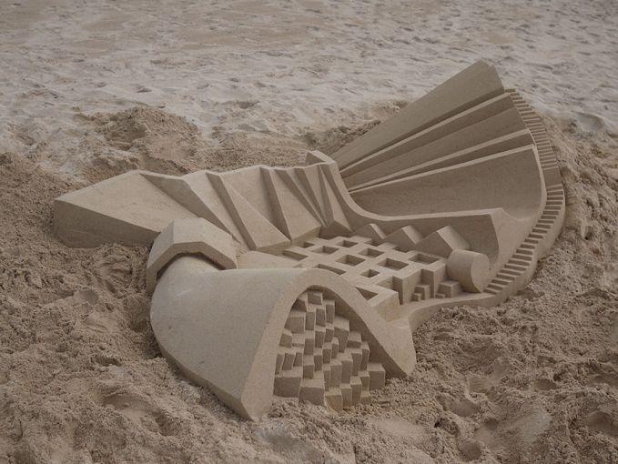 Gak bisa berkata-kata lagi deh buat gambarin kreasi keren pasir-pasir ini pulsker. Pokoknya keren banget.