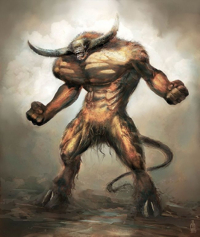 Lain Aries, lain pula Taurus. Dalam zodiak Taurus dikenal dsebagai hewan banteng yang juga memiliki tanduk pulsker. Dan beginilah penampakannya saat dia menjadi monster, dengan tubuh yang tinggibesar dan kekar. Siap untuk mengamuk dan melululantakan apa saja di depannya.