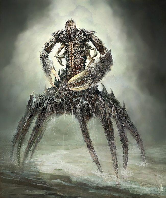 Begitu pula dengan si Cancer, sosok kepiting yang memiliki capit yang kuat. Ini adalah penampakan si Cancer dalam sosok monster, seolah dia baru saja keluar dari dalam air dan hendak mencari mangsanya nih.