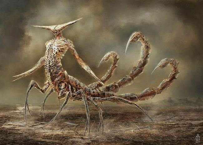 Sama halnya dengan sosok si kalajengking Scorpio ini. Begini penampakannya ketika dia berubah menjadi karakter monster jahat. Kalau Scorpions band sih gak masalah ya pulsker, lag-lagunya enak didenger.