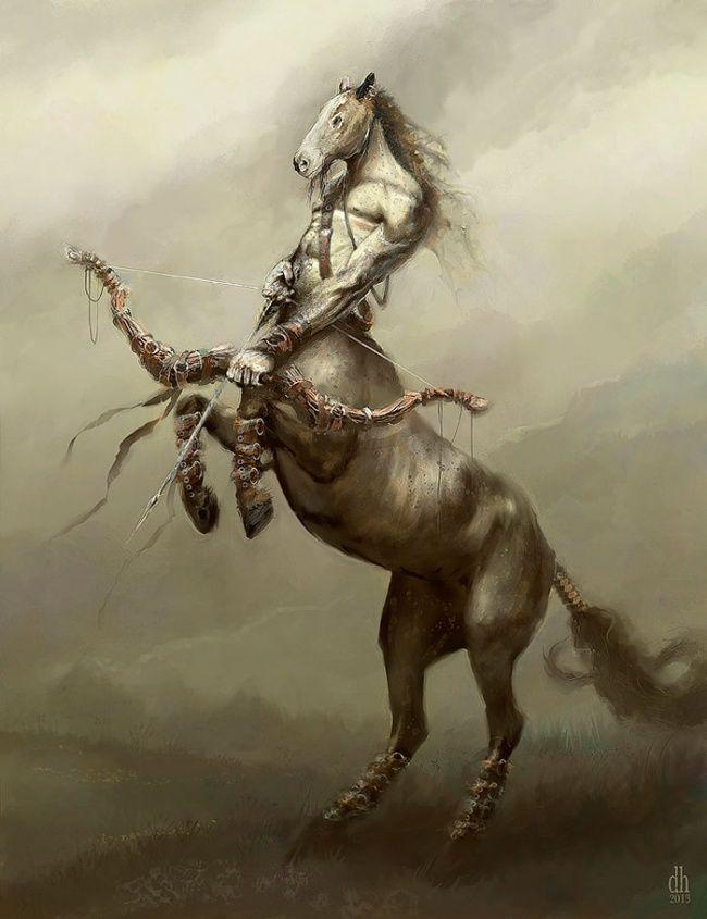Ini dia sosok yang paling fenomenal dari zodiak, Sagitarius. Sosok yang merupakan paduan antara kuda dengan manusia. Saat digambar menjadi sosok karakter monster nih, begini penampakannya.