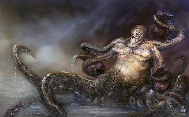 Sesosok gurita dalam zodiak sudah pasti adalah Aquarius. Sosok ini adalah lambang dari penjaga perairan pulsker. Seram juga ya kalau dia dijadikan karakter monster begini.