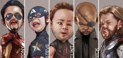 Mau Tahu Gimana Jadinya Kalau Karakter Tokoh Avengers Berubah Jadi imut? Ini Dia 7 Diantaranya
