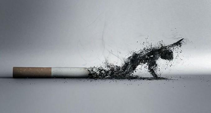 Asap rokok yang lemah.