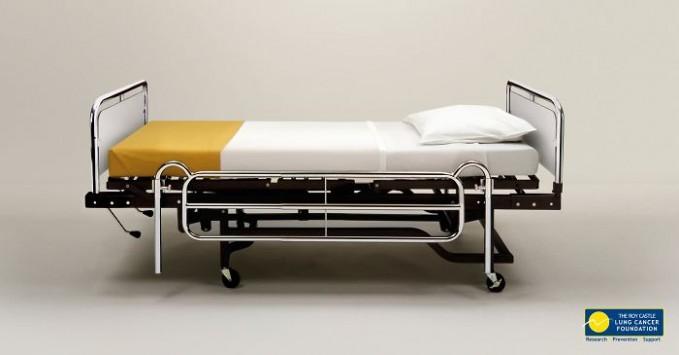 Kasur di rumah sakit.