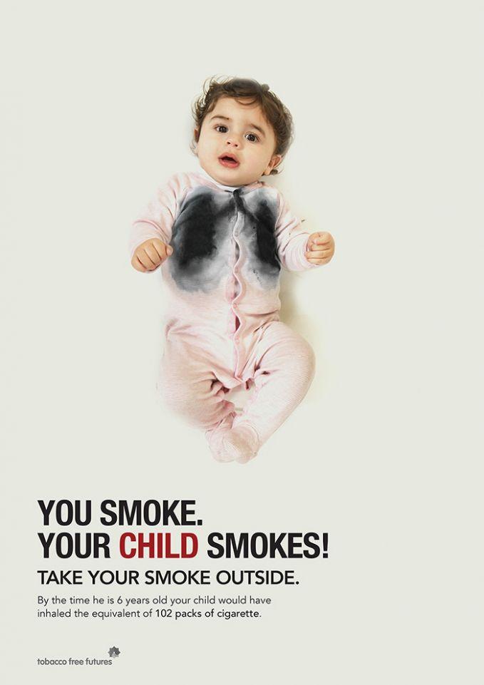 Poster ini adalah peringatan bagi para orang tua yang perokok berat ya pulsker. Asap dari rokok tersebut juga bagian dari penyakit anak. Walaupun disadari atau tidak ya?.