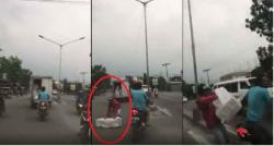 [Video] Aksi bajing loncat di Medan, mencuri dari truk yang sedang berjalan