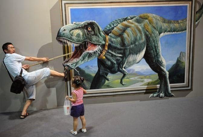 Berburu dinosaurus. Keren kan?